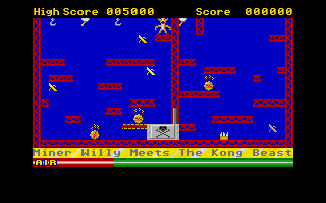 Miner Willy meets the Kong Beast. The boss stage.