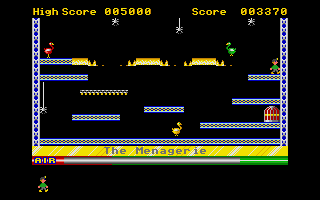 Large screenshot of Manic Miner