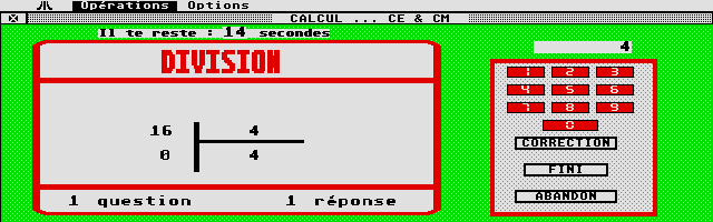 Screenshot of Calcul C.E.