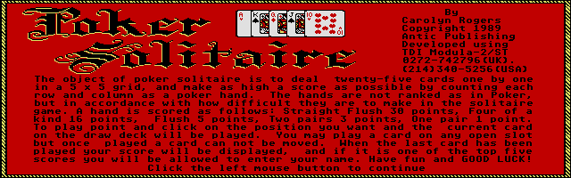 Thumbnail of other screenshot of Poker Solitaire