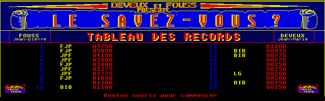 Large screenshot of Le Savez-Vous ?