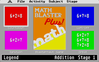 Large screenshot of Math Blaster Plus!