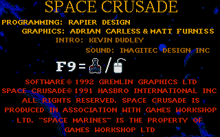 Screenshot of Space Crusade - The Voyage Beyond