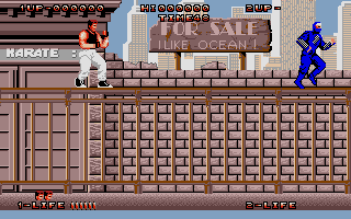 Screenshot of Dragon Ninja