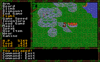 Screenshot of Questron II