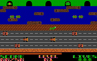Screenshot of Frogger