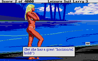 Screenshot of Leisure Suit Larry 3 - Passionate Patti in Pursuit of the Pulsating Pectorials
