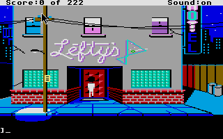 Screenshot of Leisure Suit Larry 1 - In the Land of the Lounge Lizards