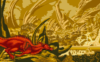 Wow, that's actually a cool looking dragon, or is it perhaps a lizard. Anyway, it looks nice and makes a good title screen.