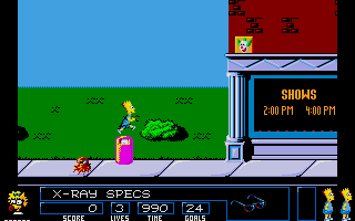 Screenshot of Simpsons - Bart Vs The Space Mutants, The