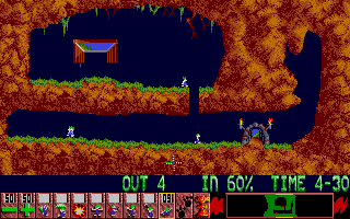 Screenshot of Lemmings