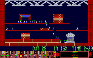 Screenshot of Oh No! More Lemmings