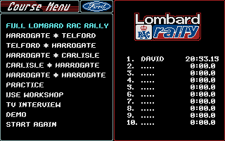Screenshot of Lombard RAC Rally