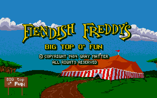 Large screenshot of Fiendish Freddy's Big Top O' Fun