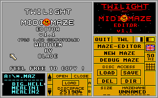 Screenshot of Midi Maze Editor