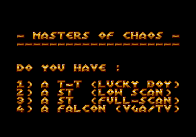 Thumbnail of other screenshot of Masters Of Chaos