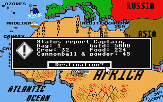Screenshot of Pirates of the Barbary Coast