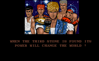Screenshot of Double Dragon 3 The Rosetta Stone