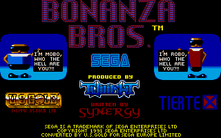 Screenshot of Bonanza Brothers