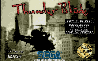 Screenshot of Thunderblade