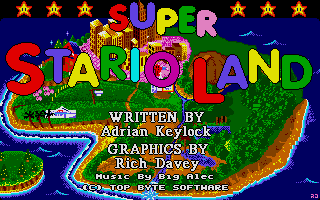 Large screenshot of Super Stario Land