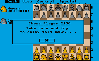 Screenshot of Chess Player 2150