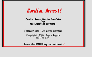 Screenshot of Cardiac Arrest!