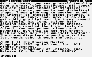 Thumbnail of other screenshot of Zork III - The Dungeon Master