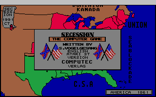 Thumbnail of other screenshot of Secession - The Computer Game