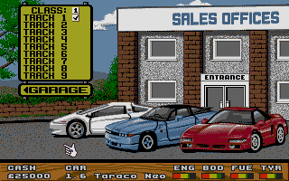 Large screenshot of Super Cars