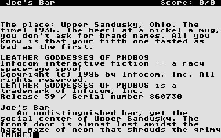 Thumbnail of other screenshot of Leather Goddesses of Phobos