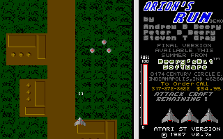 Large screenshot of Orion's run