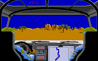 Screenshot of Paris Dakar 1990