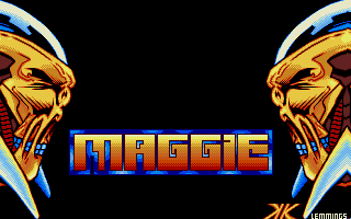 Maggie Disk 12: First contribution of K-Klass to the famous Maggie disks. He was a member of The Lemmings at this time.
