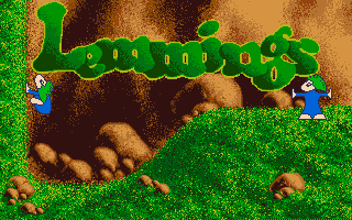 This is the picture that appears before the first intro of TLS. It was created using snapshots of Lemmings the game.