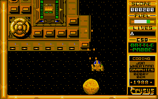 The game was published by a little company called Crysys.