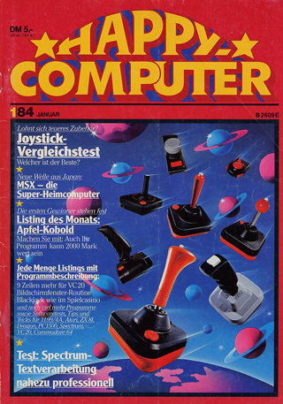 The first issue of Happy Computer magazine.