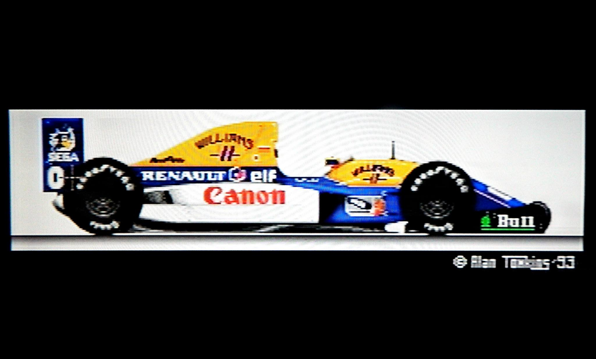 The Williams F1 car of 1993, drawn by hand for the Marlboro GP game. This game was part of Marlboro's Grand Prix promotion.