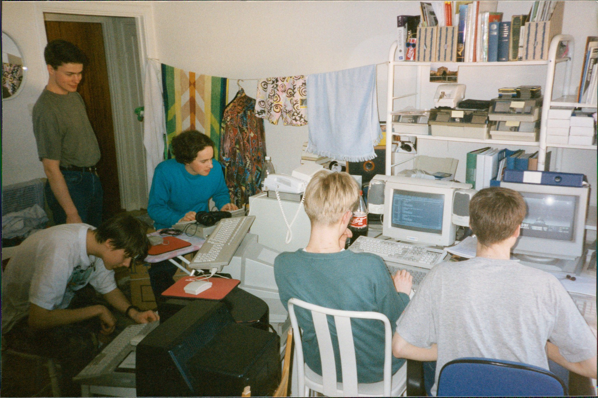This picture was taken before UDS had an actual office. The Substation team came together during a long weekend off school for a 'coding sprint' (more info in the interview).