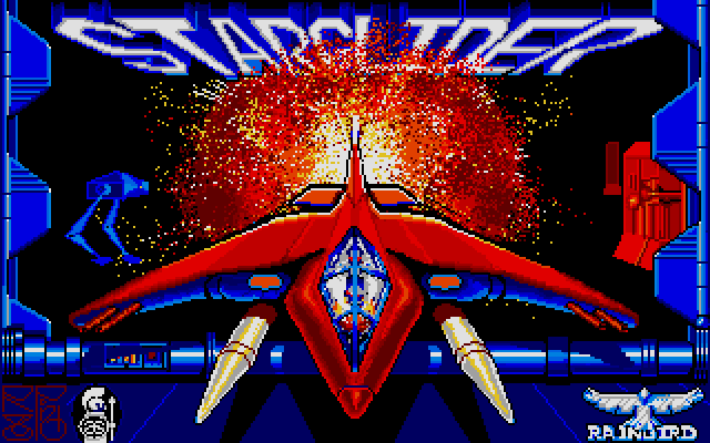 The main title screen of Starglider
