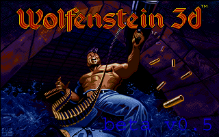 The intro screen of the Atari ST version of Wolfenstein 3D.