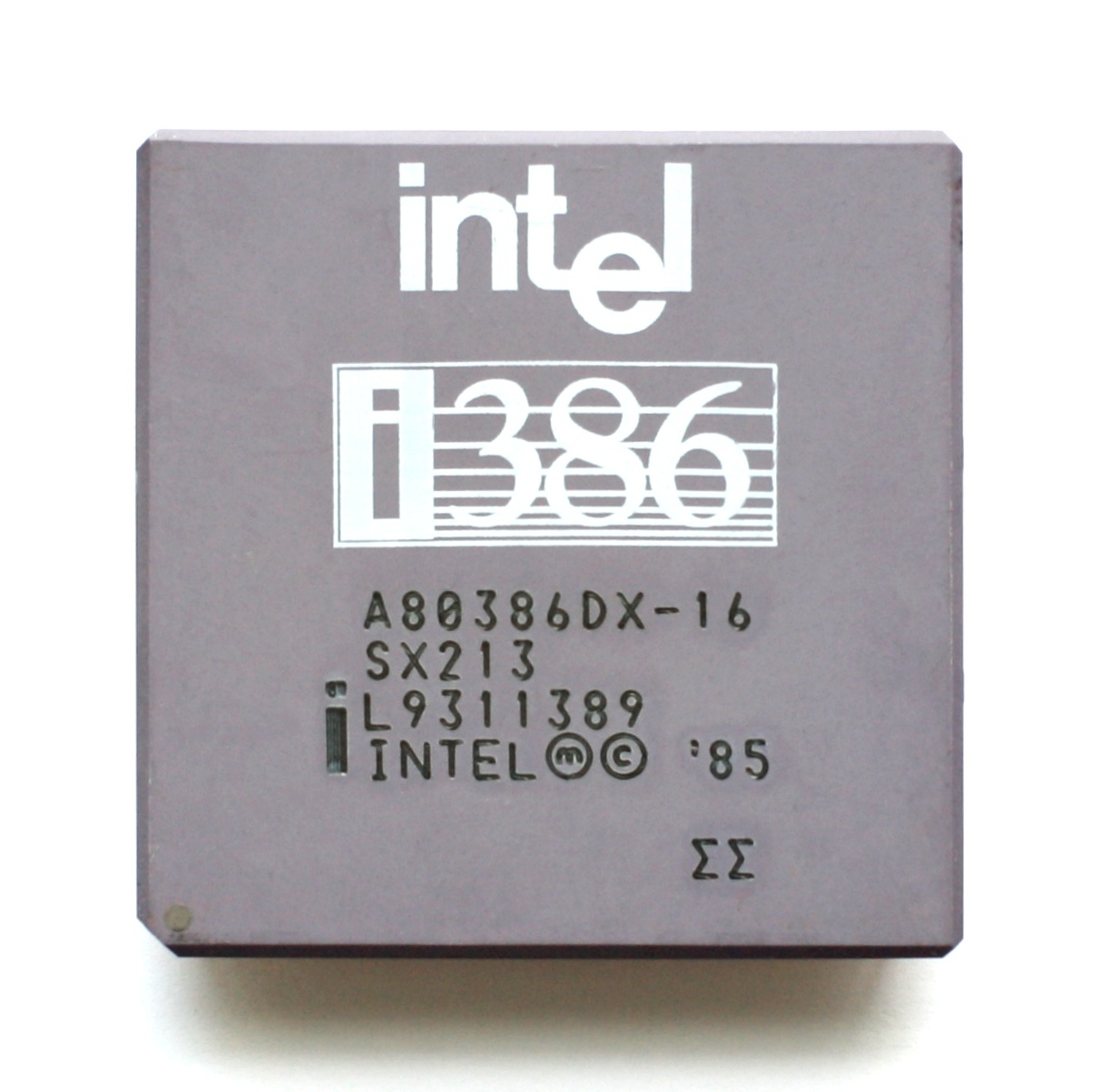 The intel 386 processor. The perfect core to run a game of classic dos Wolf3D.