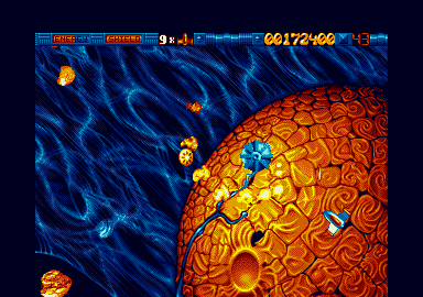 Stardust, fast paced arcade action in a beautiful STe-only game.