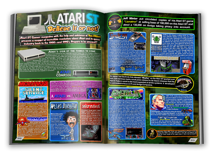 Atari ST fans rejoice! Darren releases Atari ST Gamer issue #1. What a great magazine.