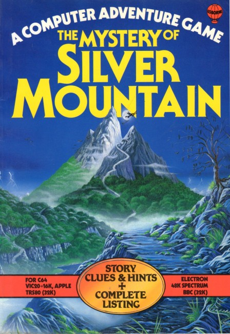 The Mystery of Silver Mountain was a text adventure that came in book form, which the user could type in on the computer.