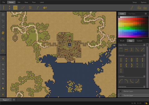 Grid Cartographer, a map drawing tool for RPGs, coded by David.