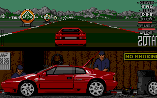 The original ST version of Lotus was missing a lot of the technical details Amiga owners could enjoy.