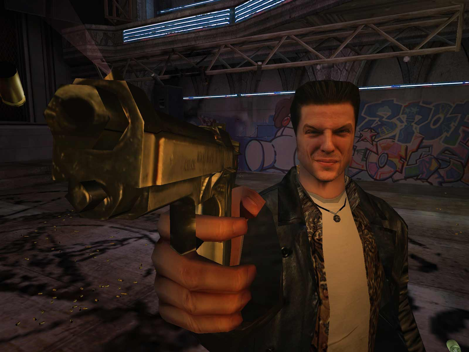 Max Payne, the game that has put Remedy on the map. Writer Sam Lake's face was actually mapped to the game character.