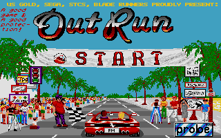 Outrun on the Atari ST, contained within the Power Pack bundle, a major disappointment for most ST users.