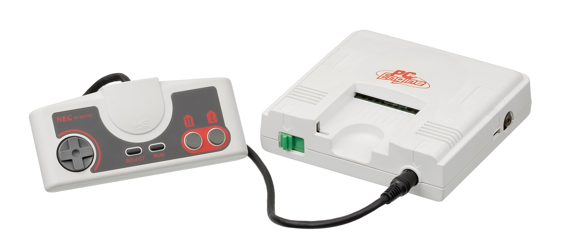 The NEC PC Engine, also known as the Turbo Grafix 16. Jamie is a big fan.